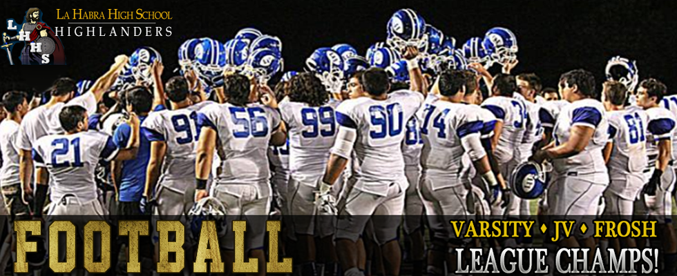 La Habra High School Football League Champions
